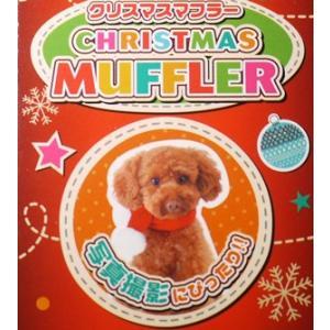 【宅配便配送】ペティオ クリスマス マフラー Sサイズ|cattery-branche