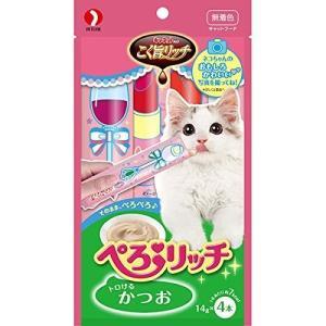 【ネコポス対応】ペットライン キャネットチップ こく旨リッチ ぺろリッチ かつお 56g|cattery-branche