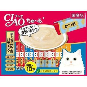 【宅配便配送】いなば チャオ (CIAO) ちゅ〜る まぐろ・かつお バラエティ 14gx40本|cattery-branche
