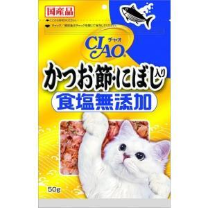 【宅配便配送】いなば チャオ (CIAO) 食塩無添加 かつお節・にぼし入り 50g|cattery-branche