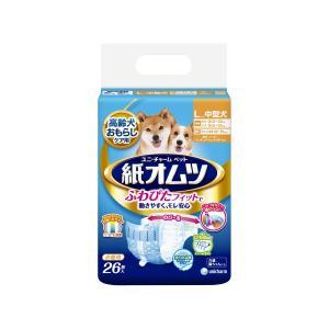 【宅配便配送】ユニ・チャーム ペット用紙オムツ 中型犬用 Lサイズ 26枚|cattery-branche