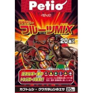 【宅配便配送】ペティオ 昆虫ゼリー フルーツMIX 20個入|cattery-branche