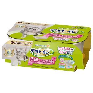 【宅配便配送】ユニ・チャームデオトイレ 子猫から体重5kgの成猫用 システムトイレ|cattery-branche