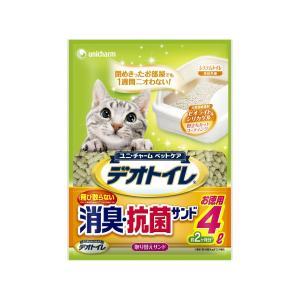 【宅配便配送】ユニ・チャーム デオトイレ 飛び散らない消臭・抗菌サンド4L|cattery-branche