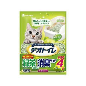【宅配便配送】ユニ・チャーム デオトイレ 飛び散らない緑茶・抗菌サンド4L|cattery-branche