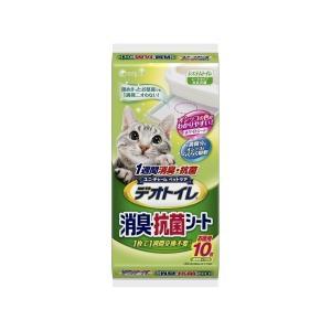 【宅配便配送】ユニ・チャーム デオトイレ 1週間消臭抗菌デオトイレ専用シート 10枚|cattery-branche