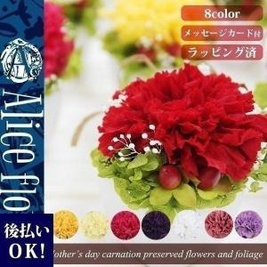 ■商品サイズ:5cmx5cmx高さ9cm(花の高さも含みます) ■使用材料:カーネーション、アジサイ...