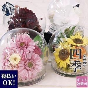 テレビで紹介されました☆新品 プリザーブドフラワー ドーム ガラスドーム ローズ バラ プリザーブド アレンジ 花|cavatina