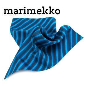 マリメッコ marimekko スカーフ レディース ハンカチ PETTERI ブルー 北欧 037311-586|cavatina