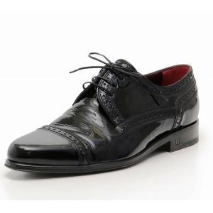 ルイヴィトン エナメル ドレスシューズ ウイングチップ 約25.5cm メンズ LOUIS VUITTON 靴 cawcaw