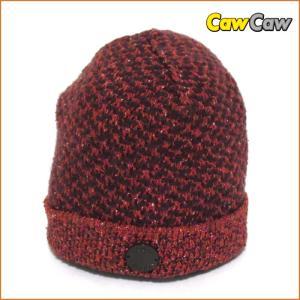 ルイヴィトン ニット帽 赤系・メンズ/レディース ロゴボタン LOUIS VUITTON|cawcaw