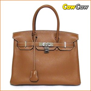 エルメス バーキン30 トゴ ゴールド シルバー金具 □N刻印 ハンドバッグ HERMES|cawcaw
