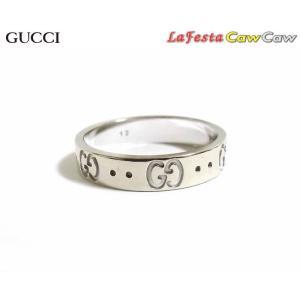 グッチ GUCCI リング 指輪 GG アイコン K18WG ホワイトゴールド 12号 cawcaw
