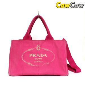 プラダ PRADA トートバッグ ショルダーストラップ付き カナパ ピンクBN2642 cawcaw