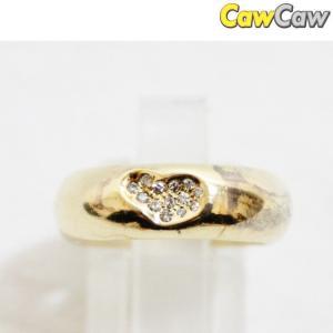 ティファニー 指輪 K18YG ハート ダイヤ リング TIFFANY&Co.|cawcaw