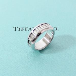 ティファニー K18WG アトラス リング 指輪 9号 ホワイトゴールド TIFFANY&Co.|cawcaw