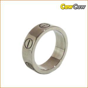 カルティエ ラブリング 指輪 Cartier K18WG ホワイトゴールド|cawcaw