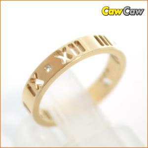 ティファニー TIFFANY&Co. 指輪 アトラスリング 4Pダイヤ イエローゴールド 3.1g 10号|cawcaw