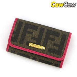 フェンディ FENDI 6連 キーケース ズッカ柄 8AP079|cawcaw