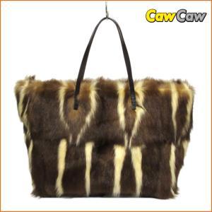 フェンディ ファー トートバッグ ショルダーバッグ ブラウン 15879 FENDI フェンディ|cawcaw