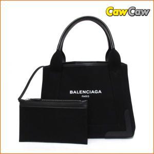 バレンシアガ BALENCIAGA バレンシアガ ハンドバッグ ブラック 339933 ネイビーカバスS キャンバス|cawcaw