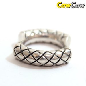 BOTTEGA VENETA ボッテガヴェネタ イントレチャート シルバー リング 指輪|cawcaw