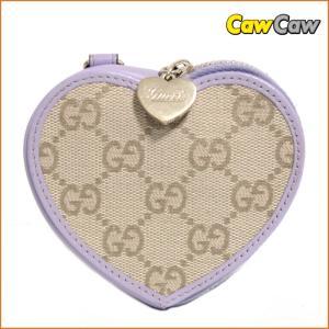 グッチ GUCCI コインケース GGキャンバス ハート型 パープル152615|cawcaw