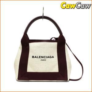 バレンシアガ BALENCIAGA 2WAY トートバック ショルダーストラップ付き ネイビー XS 390346|cawcaw
