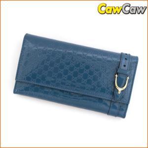 グッチ GUCCI 2つ折り 長財布 マイクログッチシマ ホースビットベルト NICE 309760 未使用品|cawcaw