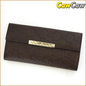 グッチ GUCCI 長財布 Wホック グッチシマ ロゴプレート 112715 未使用品|cawcaw