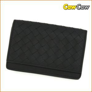 ボッテガヴェネタ BOTTEGA VENETA カードケース イントレチャート ブラック 174646|cawcaw