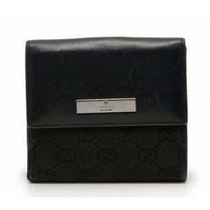 グッチ 財布 05504 三つ折り財布 GGキャンバス ブラック GUCCI グッチ|cawcaw
