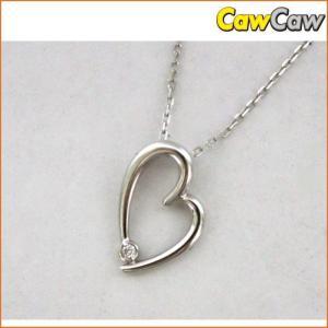 ハートトップ ダイヤ K18 ネックレス|cawcaw