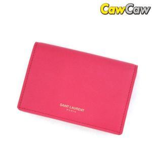サンローラン SaintLaurent カードケース レザー ピンク 新品|cawcaw