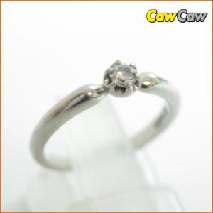 ヨンドシー 4℃ 指輪 リング Pt950 ダイヤリング 3.8g 8号|cawcaw