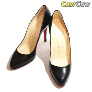 クリスチャン ルブタン Christian Louboutin 靴 ハイヒール シンプルパンプ100 ブラック 23cm cawcaw