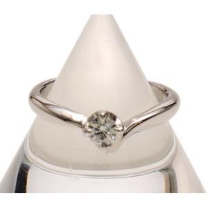 4℃  指輪 4℃ ダイヤリング Pt950 D0.150ct 3.7g 6.5号|cawcaw