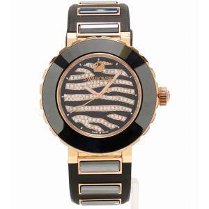 スワロフスキー 腕時計 5080197  オクテア スポーツ 50m防水 ゼブラ柄 5080197 Black Silicone Swiss Quartz Swarovski 美品|cawcaw
