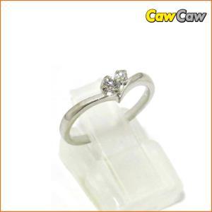 指輪 4℃ ダイヤモンドリング K18WG ホワイトゴールド リング 10号 4℃|cawcaw