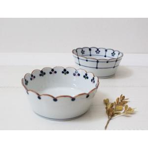 花びら 小鉢 鉢 ボウル 磁器 和食器 伝統工芸 京都染付 12.5cm|cayest