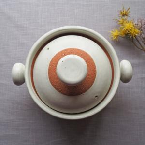 ごはん鍋 耐熱 土鍋  白2-3合炊き 廣川純 かわいい おしゃれ【さいえ特別価格】|cayest