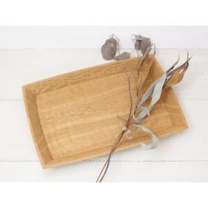 【受注生産可】タモ角盆 カフェトレイ 甲斐幸太郎 木製トレー お盆 トレイ|cayest
