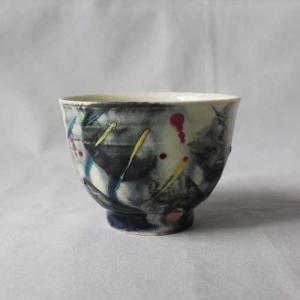 CHAOS 湯飲み 陶器カップ アート 廣川みのり 湯飲み オリジナル 個性派 おしゃれ|cayest