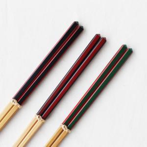 竹箸 ダイヤカット 赤/緑/黒 22.5cm 細め お箸 国産孟宗竹|cayest