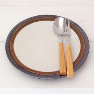 アメ釉 丸皿 22cm ディナープレート 食器 大皿 陶器 信楽焼|cayest