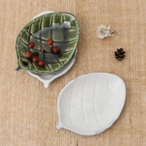 小皿 豆皿 松ぼっくり 木の実 お醤油皿 和食器 縁起物 緑/白|cayest