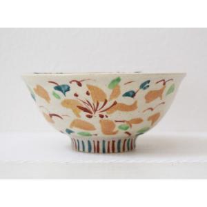 絵付け茶碗 飯碗 火の花 アジアンテイスト 廣川みのり おしゃれ|cayest