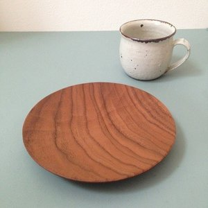 【受注生産】くるみ丸皿 日本製 18cm 木製食器 ウォルナット 甲斐幸太郎|cayest
