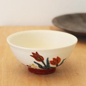 チューリップ お茶碗 野花 廣川みのり 飯碗 和食器 かわいい|cayest