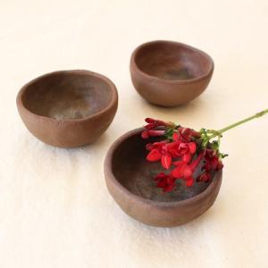 焼締 小鉢 手びねり 丹波焼 手作り 和食器 陶器 渋め ほっこり|cayest